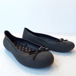 Crocs Black Mammoth Bow Ballet Flat Size 8
